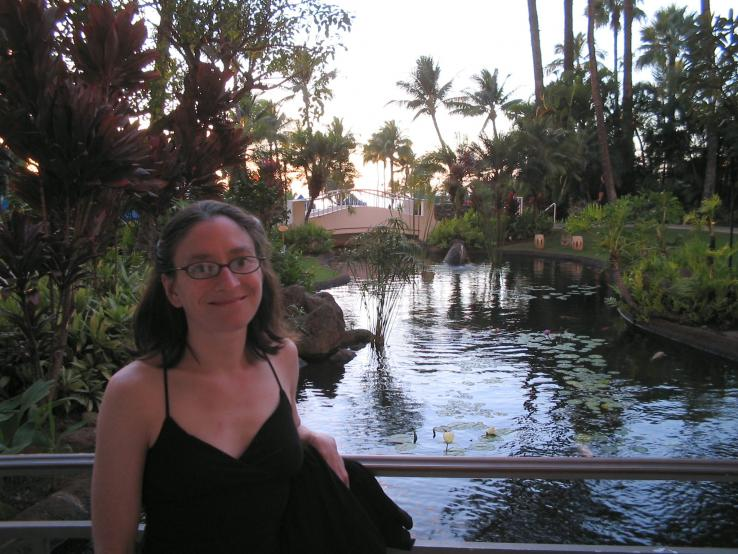 Pond at the Kea Lani.